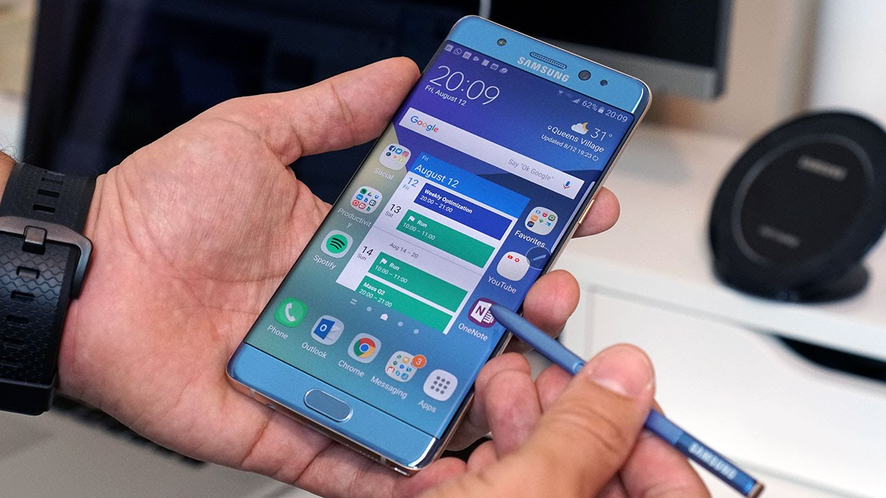 Galaxy Note 7 in colorazione blu.